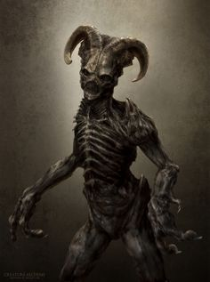 Zombie with horns