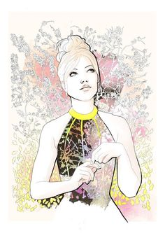 Thakoon S/S 2013 by Willa Gebbie Illustration.Files: Thakoon S/S 2013 by Willa Gebbie