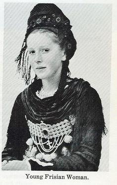 Frisian woman in native dress #Foehr