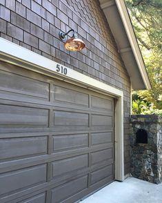 Pyramid House Numbers Available in 4 Finishes Brown Garage Door, Faux Wood Garage Door, Diy Garage Door, Garage Door Styles, Garage Door Makeover, Garage Door Design, Garage Ideas, Exterior Makeover, Garage Shop