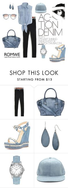 """""""Denim swag"""" by agnesmakoni ❤ liked on Polyvore featuring Alexander McQueen, Christian Louboutin, Chanel, Kenneth Cole and GUESS"""