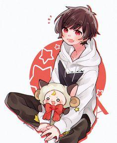 天月 Anime Chibi, Anime Kawaii, Anime Art, Cute Anime Pics, Cute Anime Boy, Cute Anime Character, Character Art, Anime Boys, Cute Art Styles