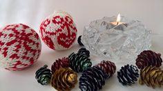 Knitted Christmas Ornament, Christmas Ball, Knitted Christmas Tree Bauble, Christmas Tree Decoration, Set of 2 #christmasornament #christmasball #knittedchristmastreedecoration #christmastreebauble #winterholidaydecor #pinterest