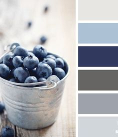 Choose Your Best Feng Shui Kitchen Colors I adore this color palette, these shades of blue & gray say water & beach to me. My master suite, for sure! And most of my house, for that matter. Colour Schemes, Color Combinations, Kitchen Color Schemes, Best Kitchen Colors, Wall Colors, House Colors, Paint Colors, Couleur Feng Shui, Decoration Palette