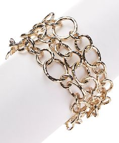 Look what I found on #zulily! Goldtone Swirl Chain-Link Bracelet by Carissima #zulilyfinds