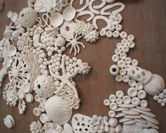 Discover recipes, home ideas, style inspiration and other ideas to try. Clay Wall Art, 3d Wall Art, Hanging Wall Art, Wall Hangings, Sea Texture, Nautical Art, Sea Art, Sculpture Clay, Beach House Decor