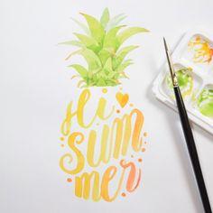 3,609 vind-ik-leuks, 46 reacties - Four Wet Feet (@fourwetfeet) op Instagram: 'This week's #handletteredabcs - Summer. 🍍🍍🍍 #abcs_summer #handlettering #brushlettering #lettering…'
