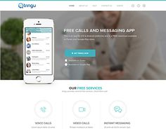 """Check out new work on my @Behance portfolio: """"Free calls and messaging app website"""" http://on.be.net/1p6BcQN"""