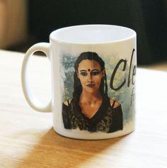 Clexa forever ceramic mug - treeline and skyline backgrounds | Commander Lexa | Clarke Griffin | The 100 | Eliza Taylor | Alycia Debnam-Carey