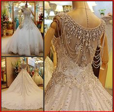 Item Type: Wedding Dresses Waistline: Natural is_customized: Yes Dresses Length: Floor-Length Silhouette: Ball Gown Neckline: V-neck Sleeve Length: Sleeveless Wedding Dress Fabric: Tulle/Netting Decoration: Crystal Image Type: Actual Images Sleeve Style: Spaghetti Straps Tra...