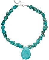 Manufactured Turquoise Pendant Necklace in Sterling Silver (550 ct. t.w.)