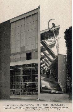 Konstantin Melnikov - Pabellón de la URSS en la Exposición de Artes Decorativas de Paris
