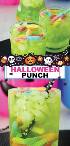 Halloween is here again! This is the perfect time for fun parties and drinks. Try making this great Halloween punch for your kids' parties. This drink is sure to be a favorite. Not only is it delicious, but having gummy worms floating in your drink makes it a lot of fun. Make some of this spooky Halloween punch this year and have a great time. #halloween #punch #forkids #worms #nonalcoholic #easy #smartschoolhouse