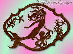 Scroll Saw Patterns :: Mythical - Use for paper cutting wall art. Heaps of other great patterns on site