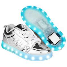 86afce0cee0b9 Heelys Premium 1 Lo Light Up - Silver Chrome (eBay Link)
