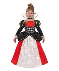 Look what I found on #zulily! Black & Red Queen of Hearts Dress-Up Set - Girls #zulilyfinds