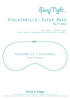 Schlafbrille / Sleep Mask Tutorial
