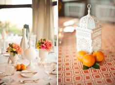 Love the white ceramics & lantern with citrus theme! #parkerpalmsprings #mafiyasuite