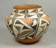 Acoma Indian Pottery Vase, circa 1880, a..