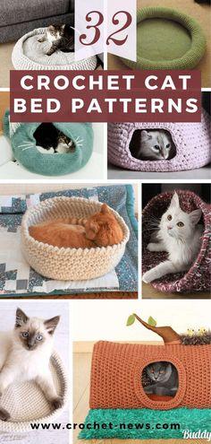 Diy Crochet Cat Bed, Cat Cave Crochet Pattern, Gato Crochet, Diy Cat Bed, Crochet Cat Toys, Knitted Cat, Crochet Patterns, Chesire Cat, Cat Tent
