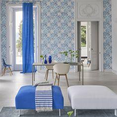 Designers Guild Pesaro Cobalt Wallpaper extra image