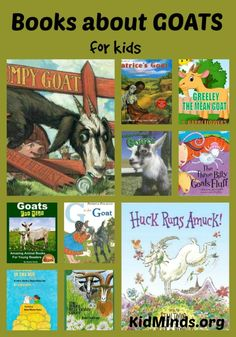 Books about Goats for kids.  For ages 3 to 8, mostly picture books with a few non-fiction titles thrown in for a good measure.  Includes extension activities, some study guides, and a wide range of goat activities.  #kids #books #InternationalGoatDay