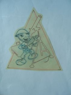 JIMINY CRICKET    Co. D, 349TH Infantry Comic Art