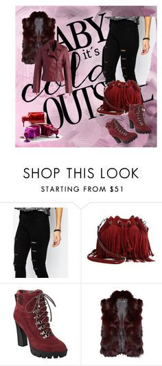 """""""Baby it's could outside"""" by jasmila31 ❤ liked on Polyvore featuring Noisy May, Rebecca Minkoff, Nine West, Adrienne Landau and Chicwish"""