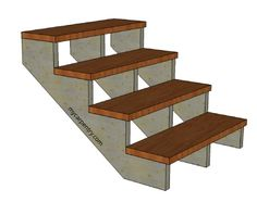 Building Stairs - How to build stairs and calculate stair stringers.  It will also show you how to build deck stairs.