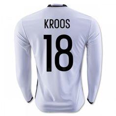Tyskland 2016 Kroos 18 Hjemmebanetrøje Langærmet.  http://www.fodboldsports.com/tyskland-2016-kroos-18-hjemmebanetroje-langermet-1.  #fodboldtrøjer