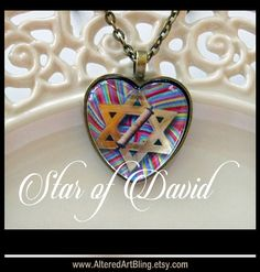 Star of David pendant...ready to ship with chain and a gift wrapped gift box... religious jewelry, Jewish pendants, Hebraic jewelry