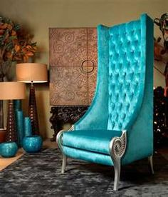 Eclectic High Back Chair