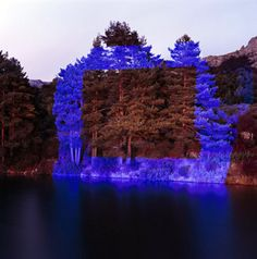 Land art | Outdoor light interventions Framing the landscape with light by Javier Riera