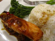 Good food and red shoes: Salmon with chilli ginger sauce