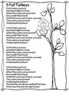 First Grade Wow: free turkey poem & lesson Thanksgiving Songs, Thanksgiving Projects, Thanksgiving Preschool, Fall Preschool, Music Activities, Autumn Activities, Turkey Poem, My First Teacher, Kids Poems