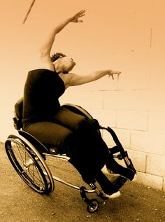 Sometimes a dancer looks like this.  Beautiful and expressive. Alice Sheppard of AXIS Dance Company