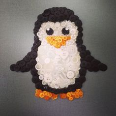 Penguin button art on Etsy, $50.00 CAD