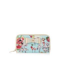 Floozie by Frost French Aqua zip around flamingo print purse- at Debenhams.com