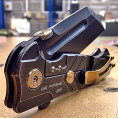 Andre De Villiers Custom Anodised Butcher Folding Knife