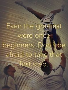 Even the best we're once beginners!