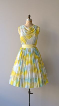 Above the Clouds dress vintage 60s dress 1960s by DearGolden