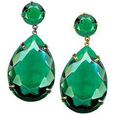 Elegant emerald tear drop earrings for jewels! Emerald Earrings, Emerald Jewelry, Green Earrings, Crystal Jewelry, Prom Earrings, Dangly Earrings, Crystal Earrings, Wedding Jewelry, Jewelry Box