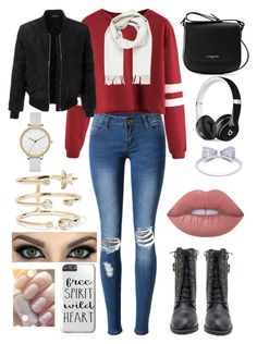 """""""Untitled"""" by carol-dills on Polyvore featuring WithChic, LE3NO, Lancaster, Brioni, Beats by Dr. Dre, Skagen, Andrea Fohrman and Lime Crime"""