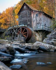 Glade Creek Grist Mill - A replica of Coopers Mill, the Glade Creek Grist Mill represents the many mills that populated West Virginia.