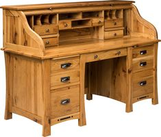 Amish Arts And Crafts Rolltop Desk