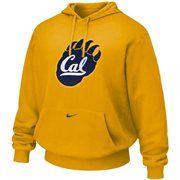 Nike Cal Golden Bears Gold Classic Tackle Twill Logo Hoodie Sweatshirt