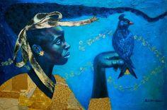 """""""Child of the Heavens"""" Painting Tamara Natalie Madden"""