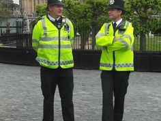 Bobbys are the person who protect and help the british people in danger. Sometimes they help the children to cross the street, they work at the police.