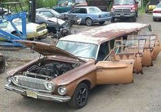 Dodge Dart, Chrysler Limousine, Limousine Car, Chrysler Vehicles, Strange Cars, Weird Cars, Strange Things, Dodge Wagon, Station Wagon Cars