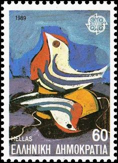 CEPT- European Conference of Postal and Telecommunications Postage Stamp Collection, Kids Toys, Children's Toys, Stamp Collecting, Postage Stamps, Greece, Disney Characters, Fictional Characters, Birds